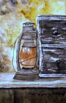 In the Golden Light watercolor painting