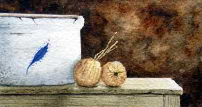 On the Sideboard original watercolor painting