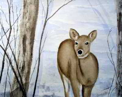 Spotted original watercolor painting
